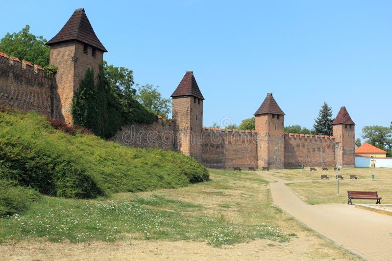 Fortificação em Nymburk fotografia de stock royalty free