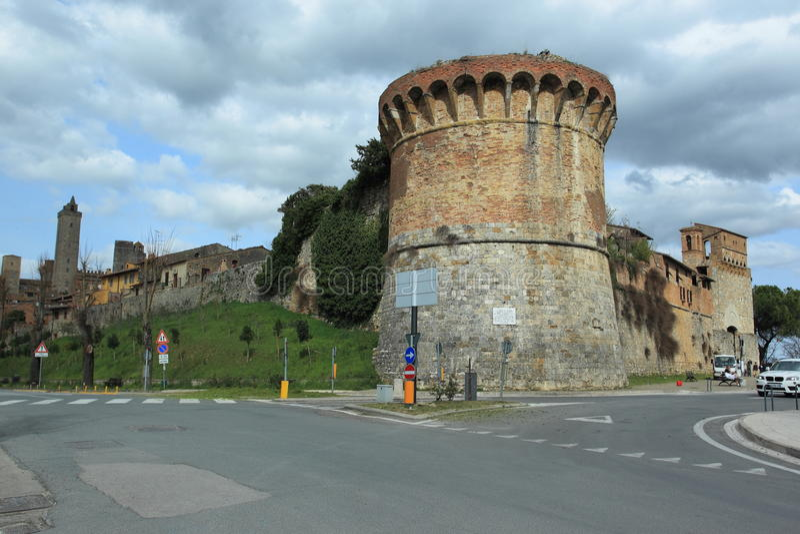 Fortificação em San Gimignano imagens de stock royalty free