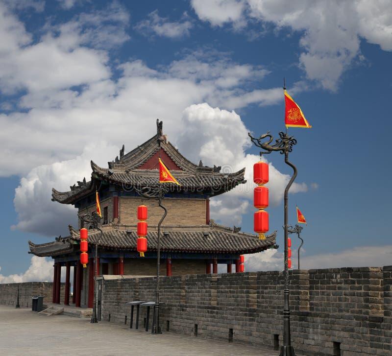 Fortificações de Xian (Sião, Xi'an) uma capital antiga de China fotografia de stock