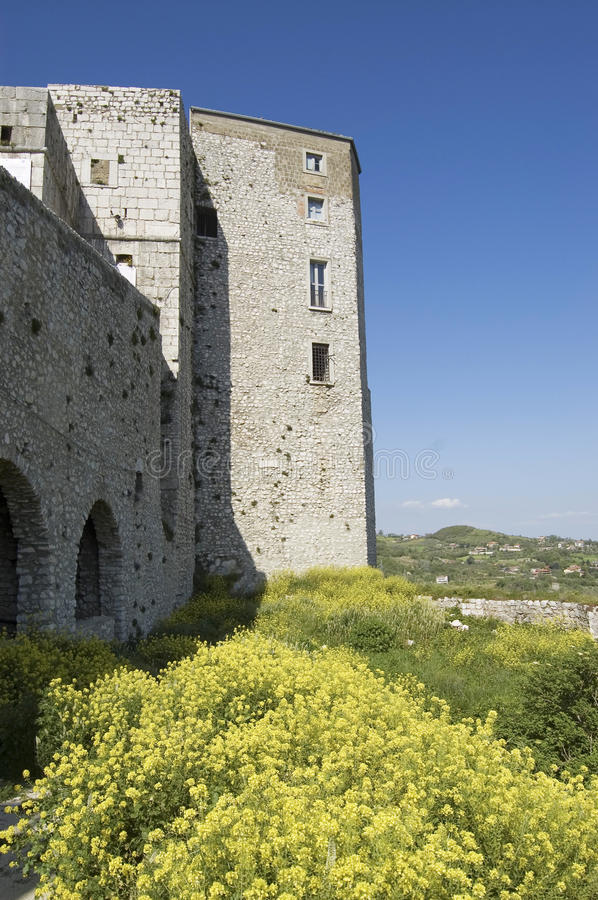 Fortification. Old castle in Montesarchio, Campania, Italy royalty free stock image