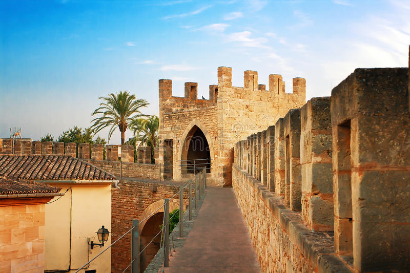 Fortification in Alcudia. Mallorca, Spain royalty free stock image