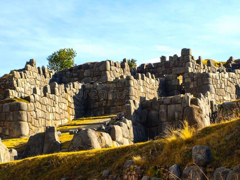 Fortification de Sacsayhuaman photo libre de droits