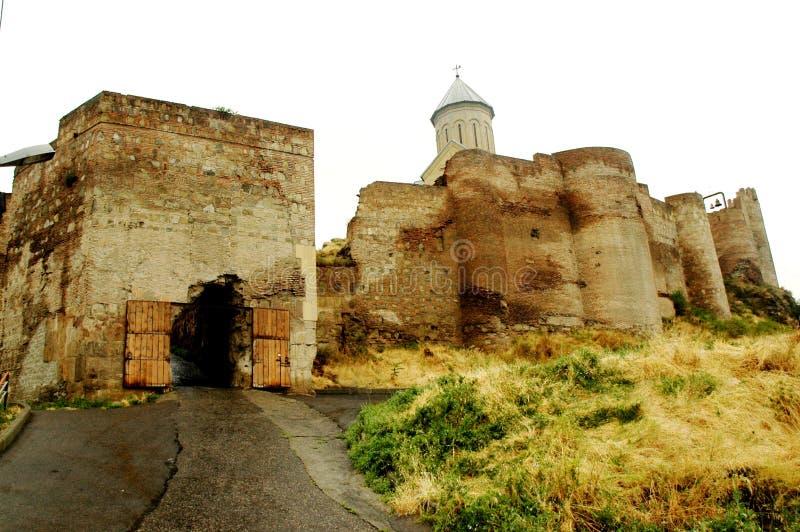 Fortification de Tbilisi, Geórgia fotos de stock royalty free