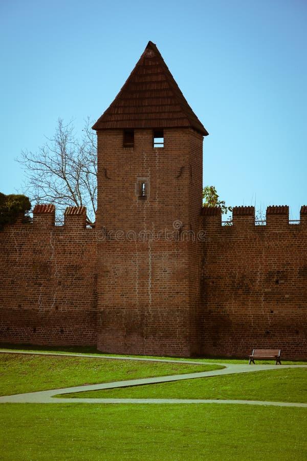 Fortification de ville dans Nymburk image libre de droits
