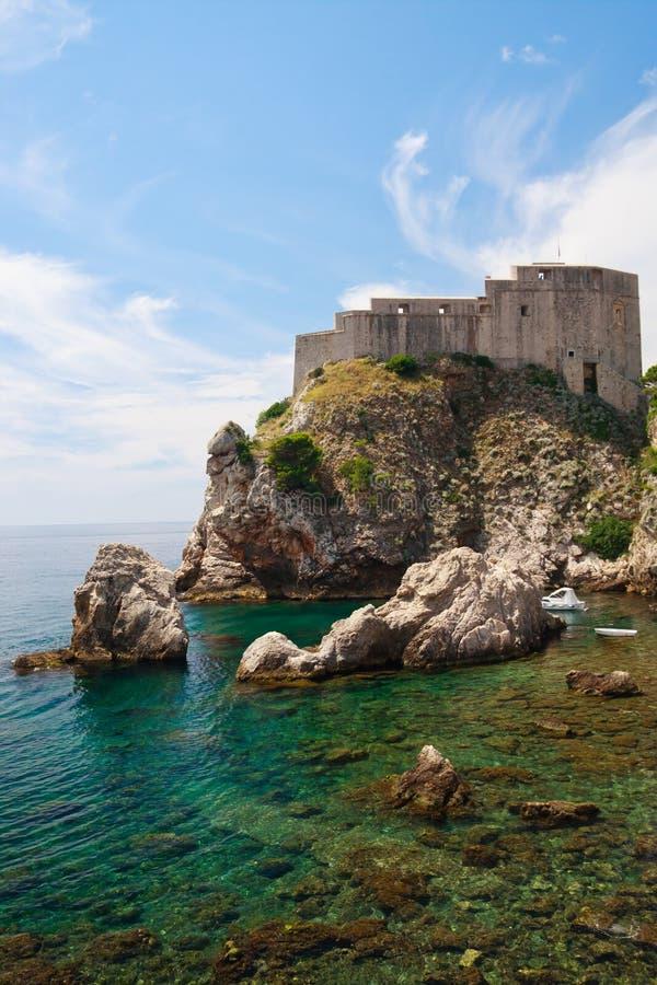 Fortification do porto de Dubrovnik imagem de stock royalty free