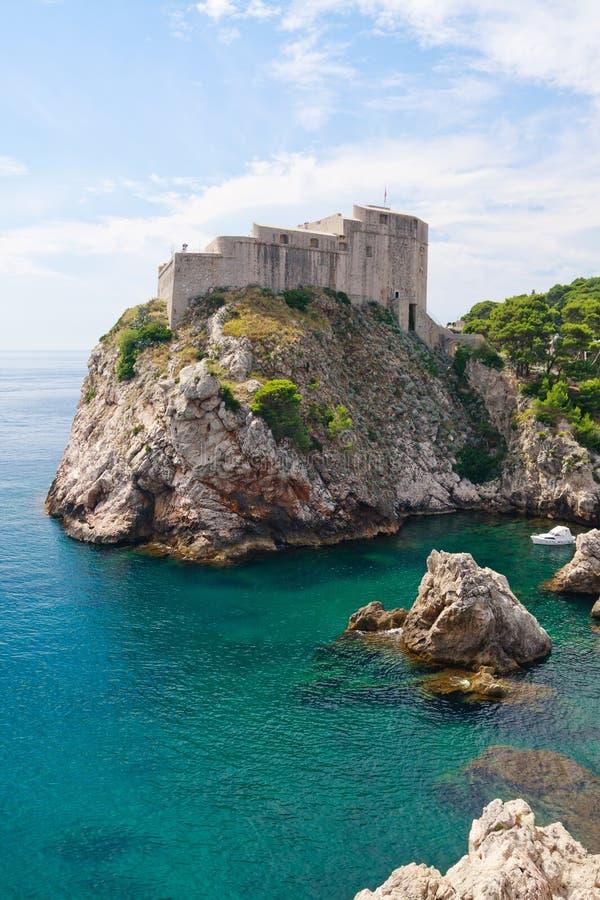 Fortification do porto de Dubrovnik imagem de stock