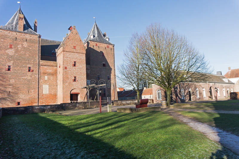 Fortification of Loevestijn in the Netherlands stock images