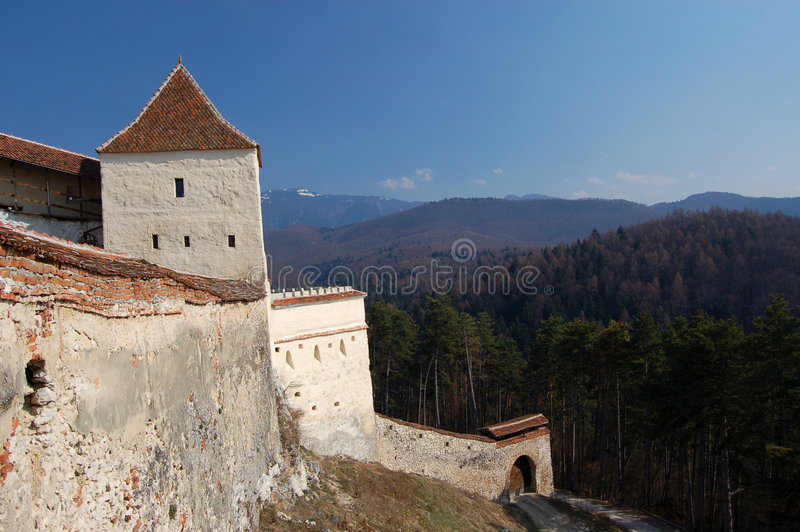 Fortification médiévale image stock