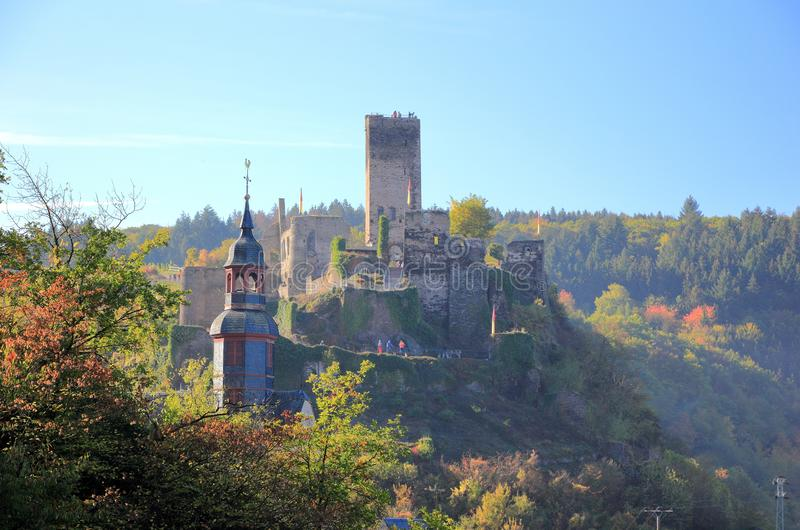 Fortification Metternich. Beilstein ... the best place on the Moselle River Mosel. Rhineland-Palatinate, Germany. Beilstein Germany is a tiny town sitting along royalty free stock photography