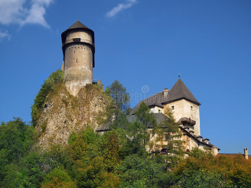 Download Fortification Of Orava Castle On The High Rock Stock Images - Image: 27036384