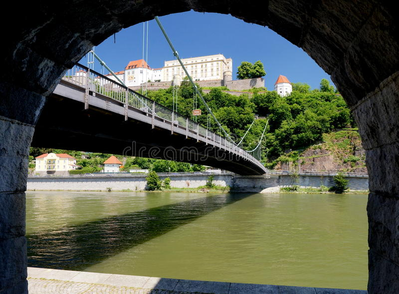 Fortification at Passau royalty free stock photos