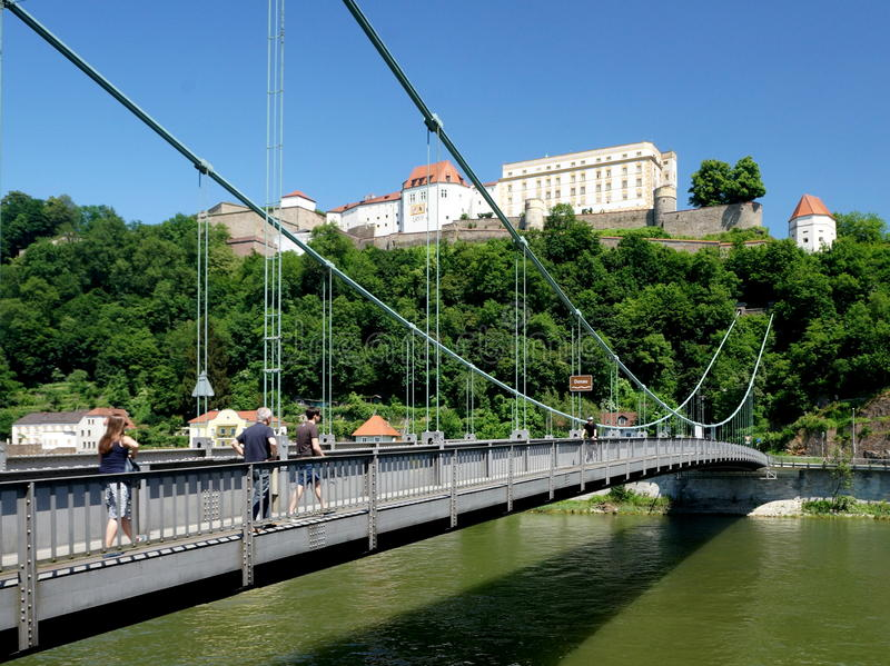 Fortification at Passau stock photo