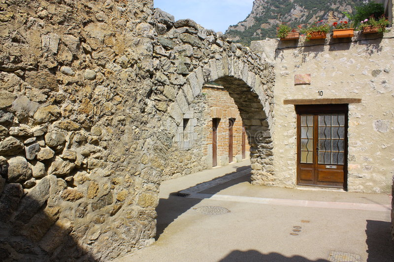 Download Fortification and porch stock photo. Image of languedoc - 7153846