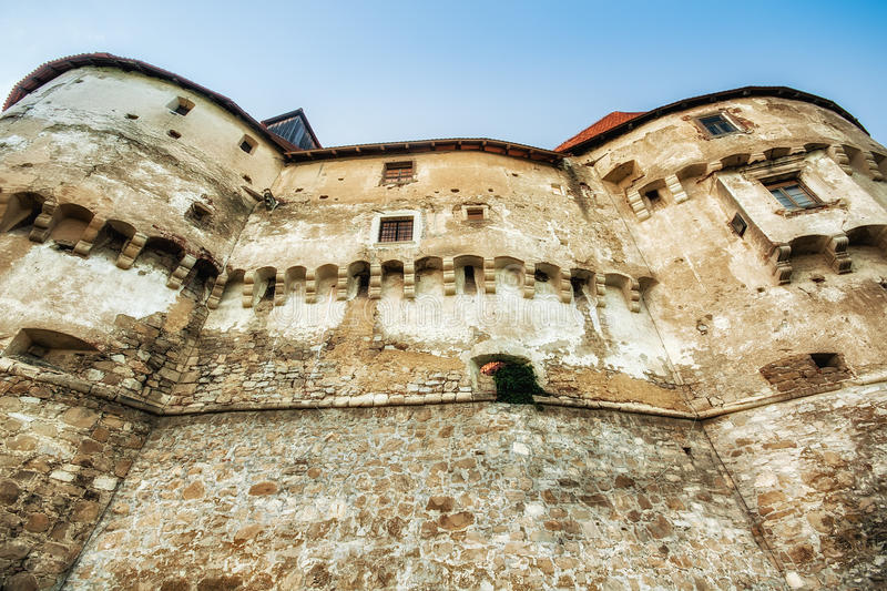 Fortification walls of the medieval castle Veliki Tabor, Croatia royalty free stock images