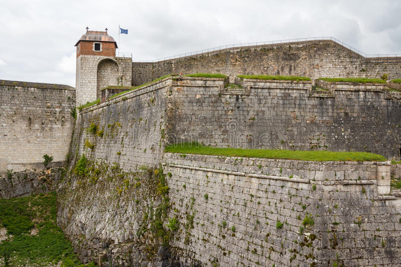 Fortifications of Besancon. France royalty free stock photos