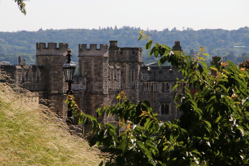 Fortifications chez Windsor Castle photo stock