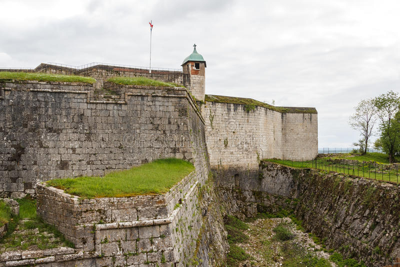 Fortifications de Besançon photo stock