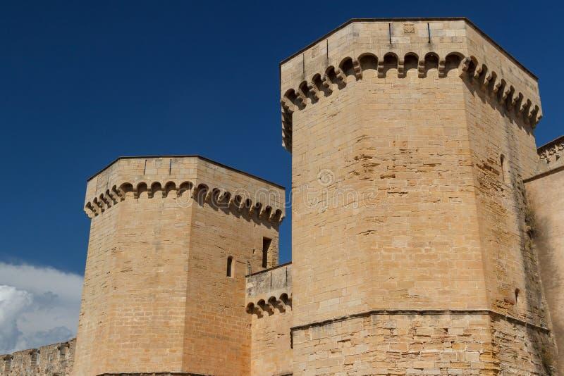 Fortifications de monastère de Poblet photographie stock libre de droits