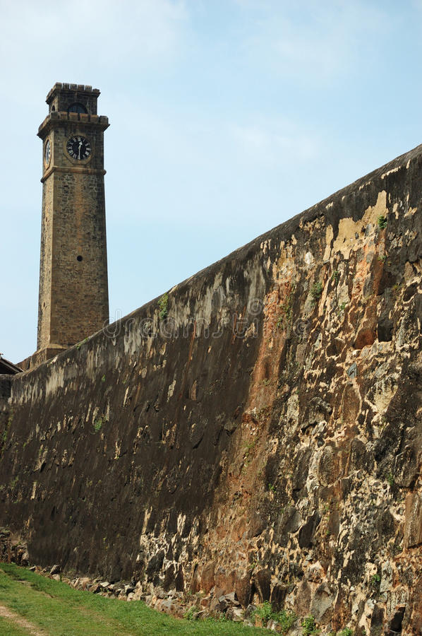 Fortifications of Old Town of Galle,Ceylon stock photos