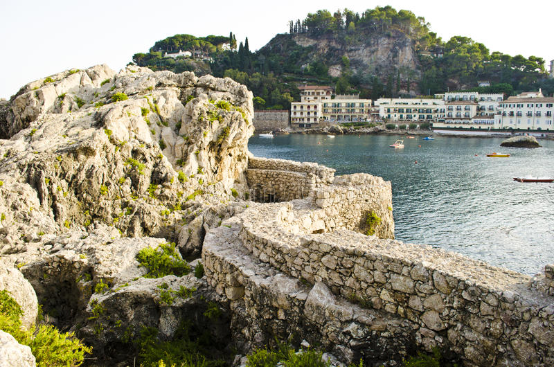 Fortifications at sea royalty free stock photography