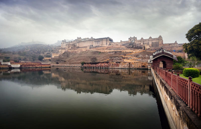 Fortificazione ambrata in India fotografia stock libera da diritti