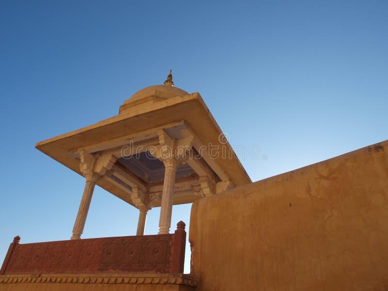 Fortificazione ambrata a Jaipur, India fotografie stock libere da diritti
