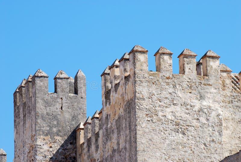 Fortificazione antica a Tarifa, Spagna immagine stock