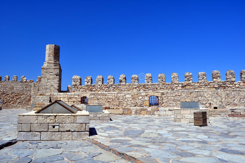 Fortificazione: Castello veneziano (Koules), in Crete fotografia stock libera da diritti