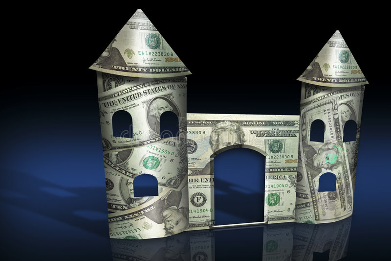 Download Fortificazione dei soldi illustrazione di stock. Illustrazione di finanza - 3893979