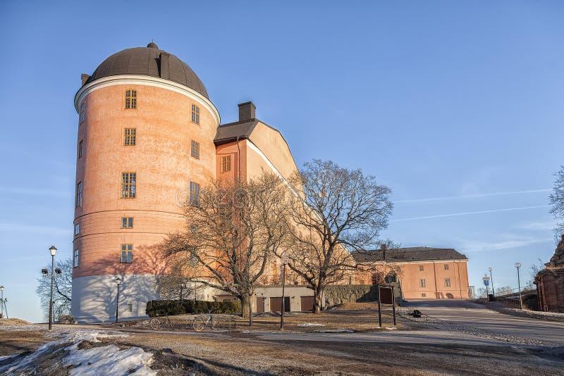 Fortificazione del castello di Upsala immagine stock libera da diritti