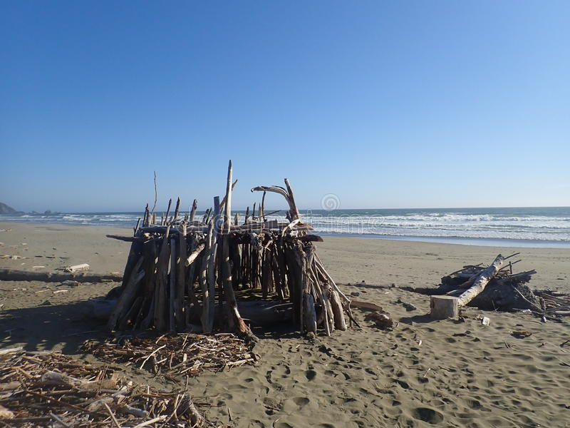 Fortificazione del legname galleggiante fotografia stock