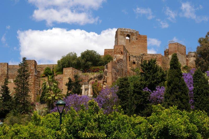 Fortificazione del Moorish in Málaga. immagine stock libera da diritti