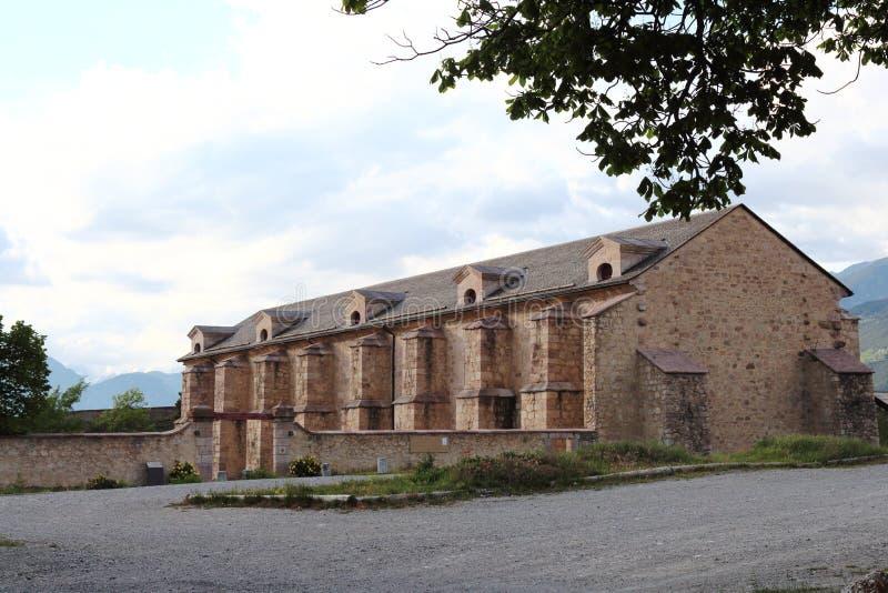 Fortificazione dell'arsenale del Mont-delfino, Hautes-Alpes, Francia fotografie stock libere da diritti