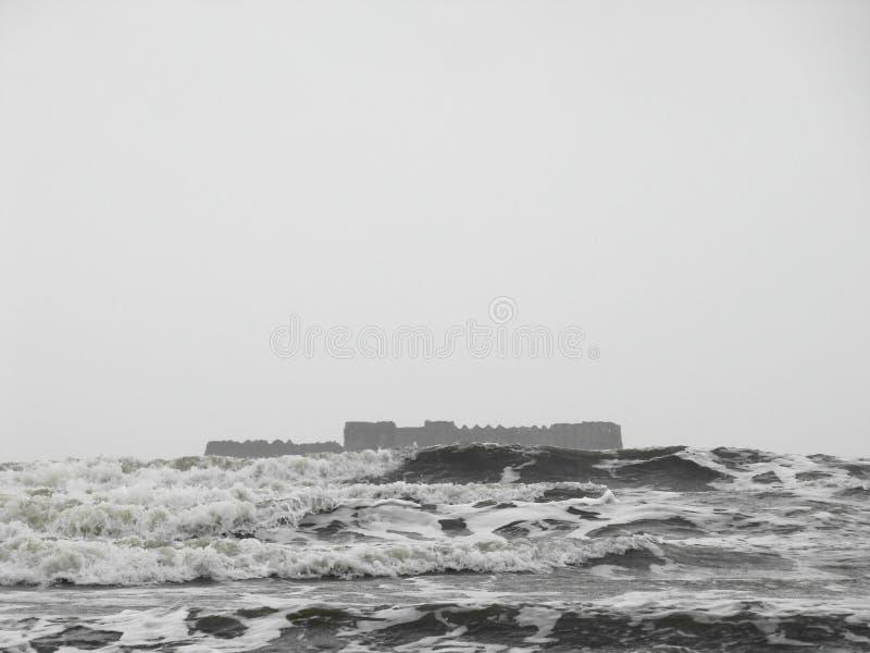 Fortificazione dell'isola. fotografia stock