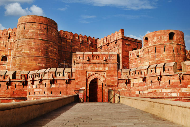 Fortificazione di Agra, Agra, Uttar Pradesh, India fotografia stock