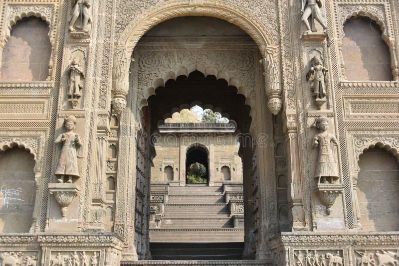 Fortificazione di Ahilya Bai, Maheshwar, Madhya Pradesh immagine stock
