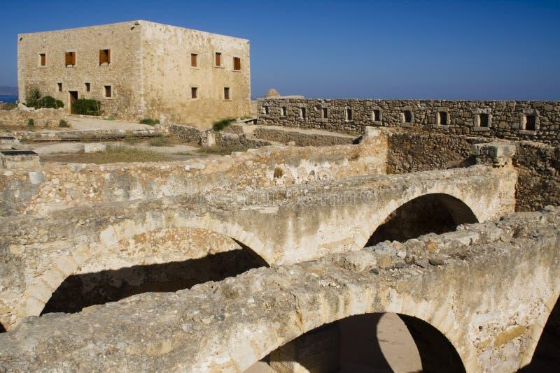 Fortificazione di Chania fotografia stock