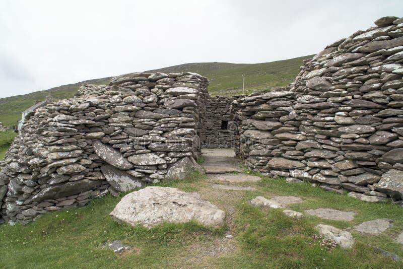 Fortificazione di Dunbeg, Irlanda immagini stock
