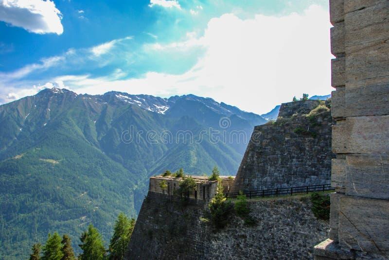 Fortificazione di Fenestrelle fotografie stock libere da diritti