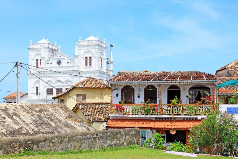 Fortificazione di Galle - patrimonio mondiale dell'Unesco dello Sri Lanka immagini stock libere da diritti