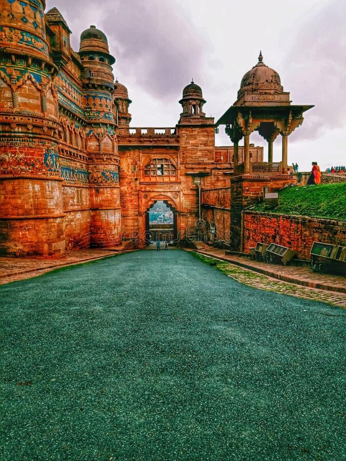 Fortificazione di Gwalior fotografie stock libere da diritti