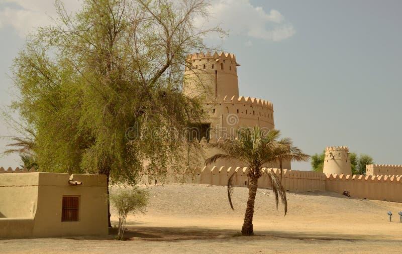 Fortificazione di Jahili nell'oasi di Al Ain, Emirati Arabi Uniti immagini stock