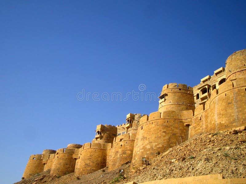 Fortificazione di Jaisalmer fotografia stock libera da diritti