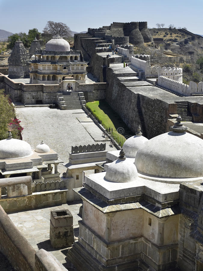 Fortificazione di Kumbhalgarth - Ragiastan - India fotografia stock libera da diritti