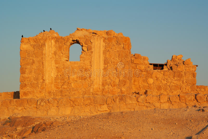 Fortificazione di Masada fotografie stock libere da diritti