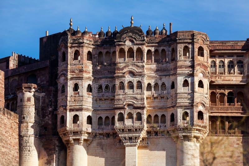 Fortificazione di Mehrangarh in India fotografia stock libera da diritti