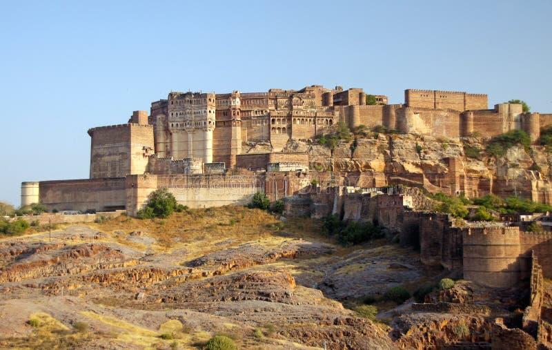 Fortificazione di Mehrangarh a Jodhpur, Ragiastan, India fotografia stock