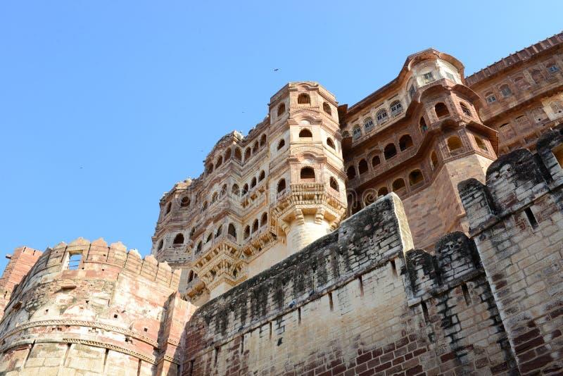 Fortificazione di Mehrangarh, Jodhpur, Ragiastan, India immagini stock libere da diritti