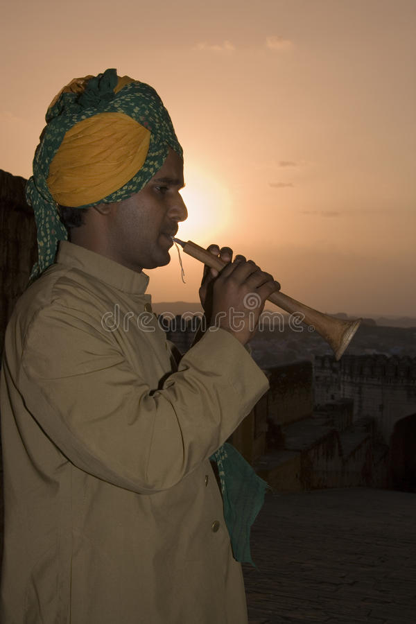 Fortificazione di Mehrangarth - Jodhpur - Ragiastan - India fotografia stock