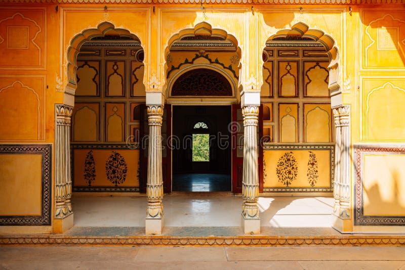 Fortificazione di Nahargarh a Jaipur, India fotografia stock libera da diritti